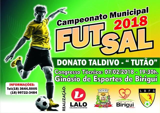 Congresso Técnico do Campeonato Municipal de Futsal 2018 acontece ... 00b73b2cfd055